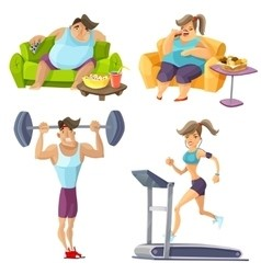 Man and Woman Before and After recommended exercise plans